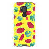 Summer-pattern-Yellow-phone-case-LG Blast Case PRO For LG G7