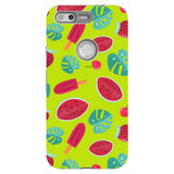 Summer-pattern-Light-Green-phone-case-Google-Pixel Blast Case PRO For Google Pixel