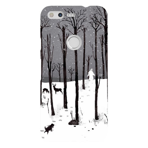 man-in-the-snow-phone-case-Google-Pixel Blast Case LITE For Google Pixel
