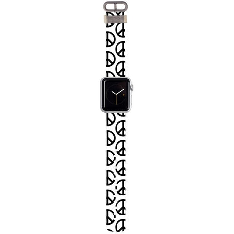 WATCH STRAP - Peace & Love for apple watch 38 mm in Nylon