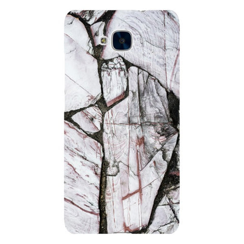MARBLE - Cracked White - Huawei-phone-case Blast Case LITE For Huawei Honor 5C