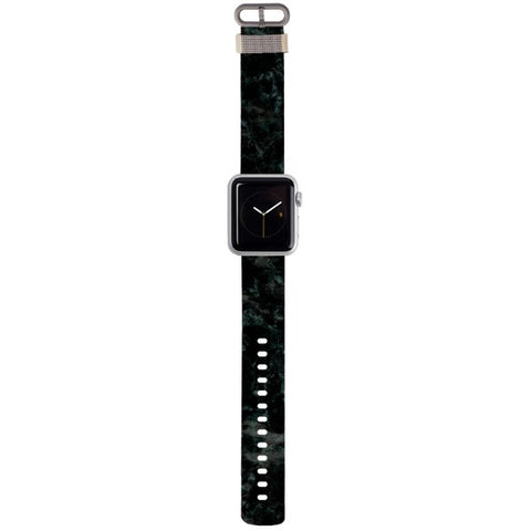 WATCH STRAP - Marble - Black for apple watch 38 mm in Nylon