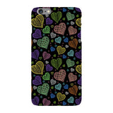 Colorful-hearts-black-phone-case-IPhone Blast Case LITE For iPhone 6 Plus