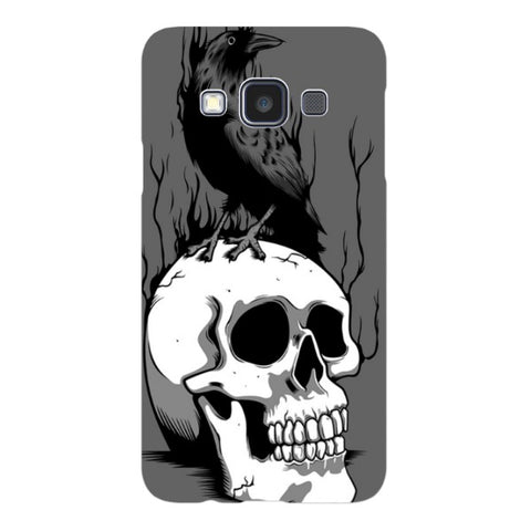Raven-on-a-skull-Illustration-phone-case-Samsung Blast Case LITE For Samsung A3 - 2014 Model