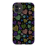 Colorful-hearts-black-phone-case-IPhone Blast Case PRO For iPhone 11