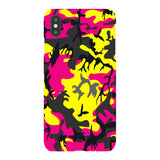 Camo-Pink-Yellow-phone-case-IPhone Blast Case LITE For iPhone XS Max