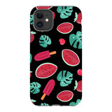 Summer-pattern-black-phone-case- IPhone Blast Case PRO For iPhone 11