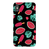 Summer-pattern-black-phone-case- IPhone Blast Case LITE For iPhone X