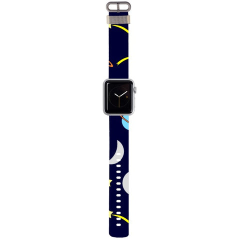 WATCH STRAP - Moon & Stars for apple watch 38 mm in Nylon