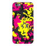 Camo-Pink-Yellow-phone-case-IPhone Blast Case PRO For iPhone 6S Plus