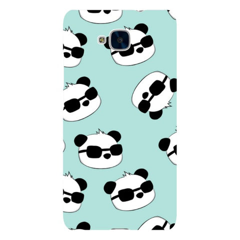 panda-Sea-Blue-phone-case-Huawei Blast Case LITE For Huawei Honor 5C