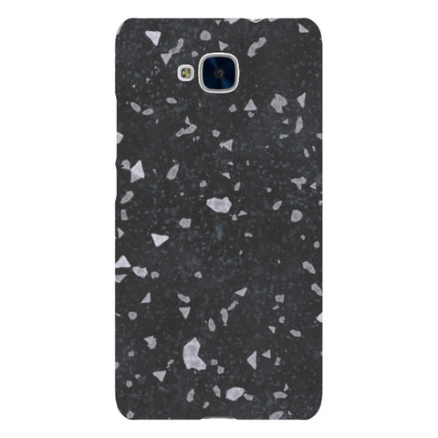 MARBLE-Grainy-Black-phone-case-Huawei Blast Case LITE For Huawei Honor 5C