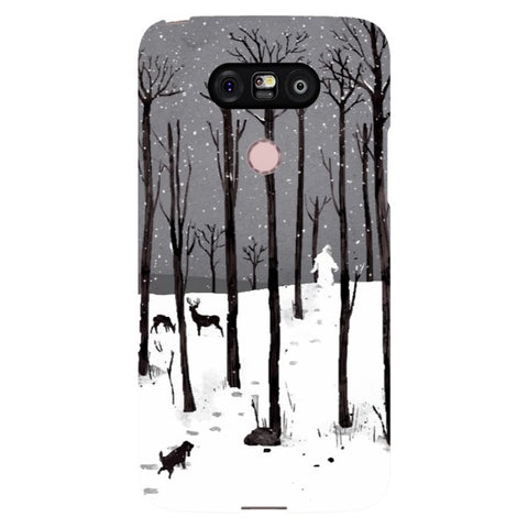 man-in-the-snow-phone-case-LG Blast Case LITE For LG G5