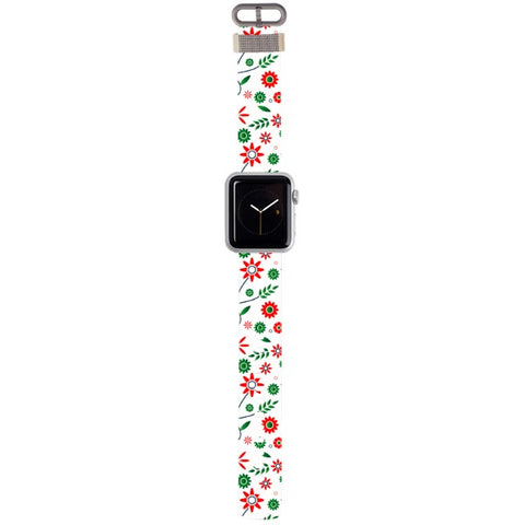 WATCH STRAP - light flowers for apple watch 38 mm in Nylon