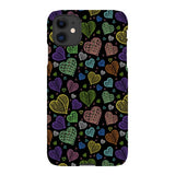 Colorful-hearts-black-phone-case-IPhone Blast Case LITE For iPhone 11