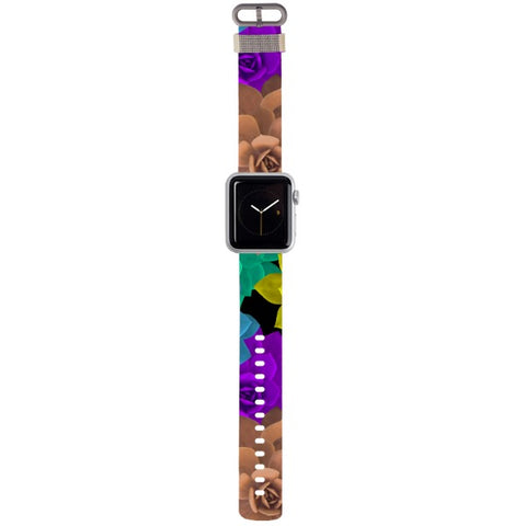 WATCH STRAP - Floral sketch for apple watch 38 mm in Nylon
