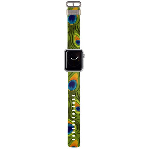 WATCH STRAP - Peacock for apple watch 38 mm in Nylon