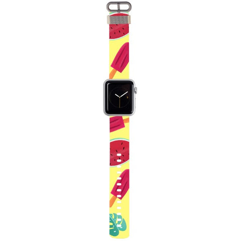 WATCH STRAP - Summer - yellow for apple watch 38 mm in Nylon