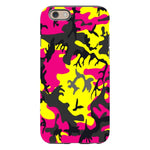 Camo-Pink-Yellow-phone-case-IPhone Blast Case PRO For iPhone 6S