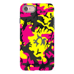 Camo-Pink-Yellow-phone-case-IPhone Blast Case LITE For IPhone  SE2