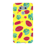 Summer-pattern-Yellow-phone-case-LG Blast Case LITE For LG G6