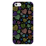 Colorful-hearts-black-phone-case-IPhone Blast Case LITE For iPhone 5