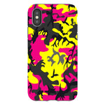 Camo-Pink-Yellow-phone-case-IPhone Blast Case PRO For iPhone X
