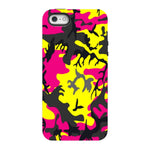 Camo-Pink-Yellow-phone-case-IPhone Blast Case PRO For iPhone SE