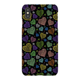 Colorful-hearts-black-phone-case-IPhone Blast Case LITE For iPhone XS Max