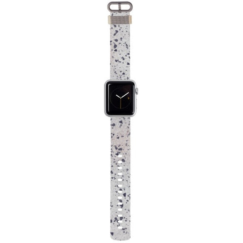 WATCH STRAP - Marble - Stained grey for apple watch 38 mm in Nylon