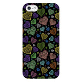 Colorful-hearts-black-phone-case-IPhone Blast Case PRO For iPhone 5