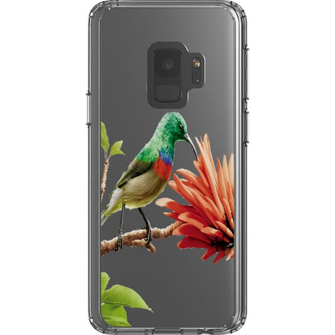 bird on a flower-transparent-phone-case Blast Case Style Type B For Samsung Galaxy S9