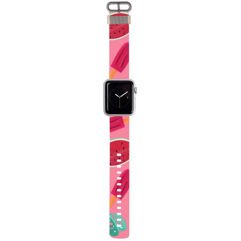 WATCH STRAP - Summer - pink for apple watch 38 mm in Nylon