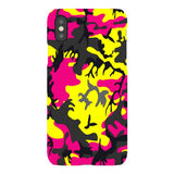 Camo-Pink-Yellow-phone-case-IPhone Blast Case LITE For iPhone X