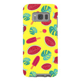 Summer-pattern-Yellow-phone-case-Samsung Blast Case PRO For Samsung Galaxy S8