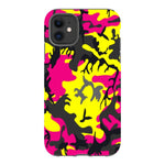 Camo-Pink-Yellow-phone-case-IPhone Blast Case PRO For iPhone 11