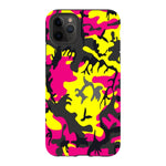 Camo-Pink-Yellow-phone-case-IPhone Blast Case PRO For iPhone 11 Pro Max