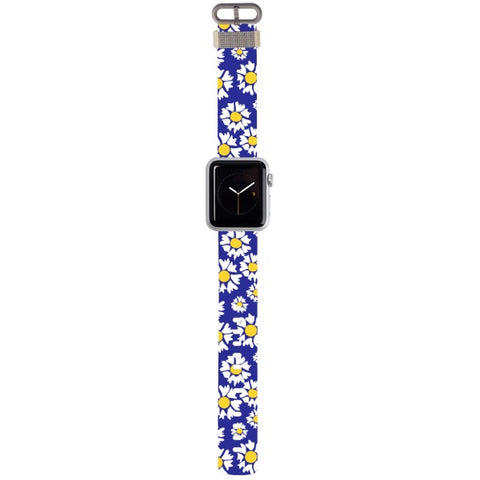 WATCH STRAP - Blue flower for apple watch 38 mm in Nylon