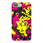 Camo-Pink-Yellow-phone-case-IPhone Blast Case PRO For iPhone 8 Plus