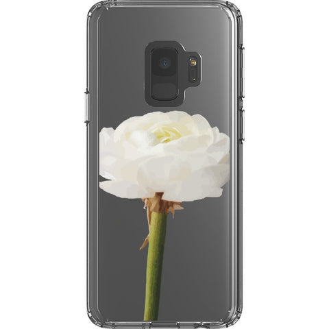 white-rose-transparent-phone-case Blast Case Style Type B For Samsung Galaxy S9