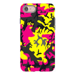 Camo-Pink-Yellow-phone-case-IPhone Blast Case PRO For iPhone 8