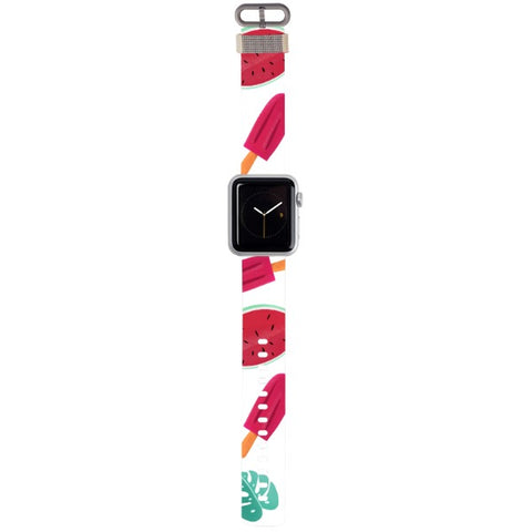 WATCH STRAP - Summer - white for apple watch 38 mm in Nylon