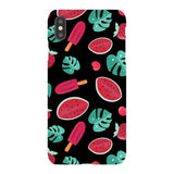 Summer-pattern-black-phone-case- IPhone Blast Case LITE For iPhone XS Max