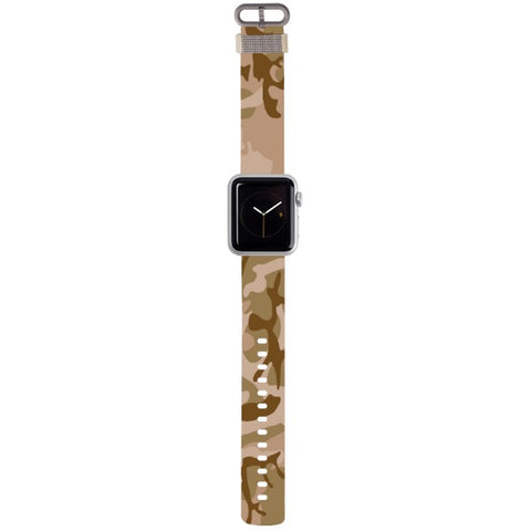 WATCH STRAP - CAMO - brown for apple watch 38 mm in Nylon