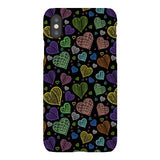 Colorful-hearts-black-phone-case-IPhone Blast Case LITE For iPhone XS