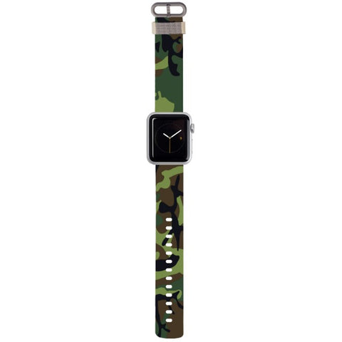 WATCH STRAP - CAMO - green for apple watch 38 mm in Nylon