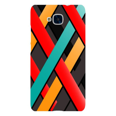 Line-pattern-black-phone-case-Huawei Blast Case LITE For Huawei Honor 5C