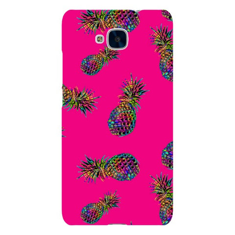 Radioactive-Pineapple-Pink-phone-case-Huawei Blast Case LITE For Huawei Honor 5C