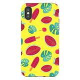 Summer-pattern-Yellow-phone-case- IPhone Blast Case PRO For iPhone X