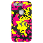 Camo-Pink-Yellow-phone-case-Google-Pixel Blast Case PRO For Google Pixel